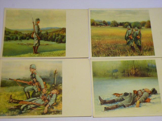 Četníci - pohlednice