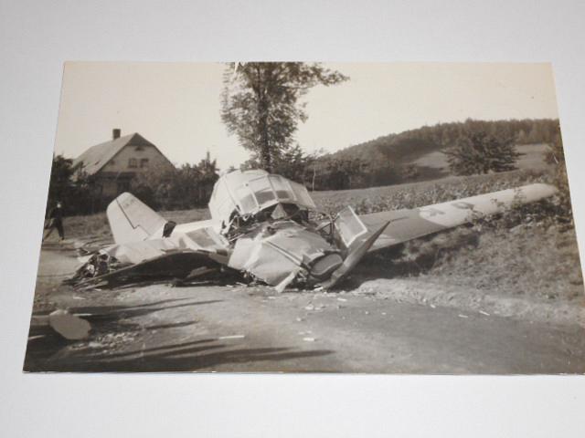 Havárie Z-281 - OK-BSA - letiště Třinec - 1951 - fotografie
