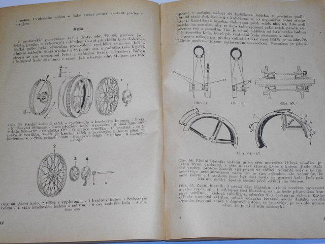 Motocykl - škola motorismu - 1950 - Jawa, ČZ, BMW...