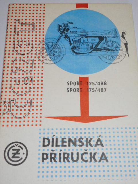 ČZ Čezet Sport 125/488, 175/487 - 1986 - dílenská příručka
