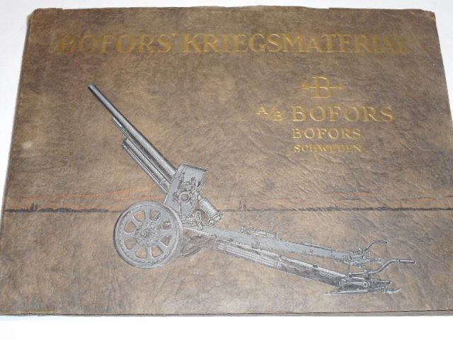 Bofors' Kriegsmaterial - A/B Bofors Schweden - katalog - 1928