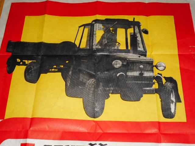 Soutěž zručnosti traktoristů 1973 - Zetor - plakát
