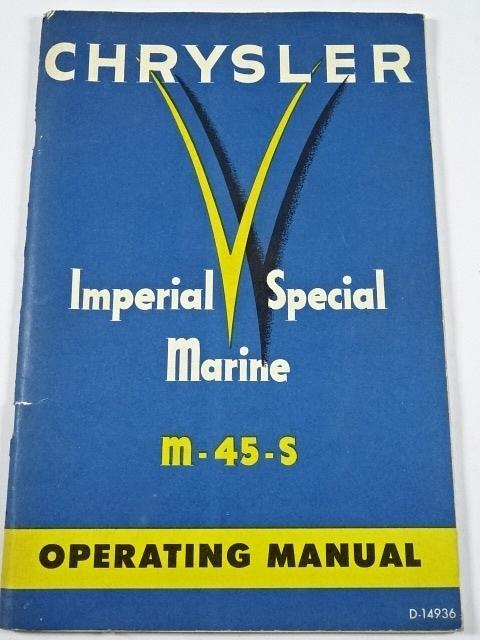 Chrysler - Imperial Special Marine M - 45 - S - Operating Manual