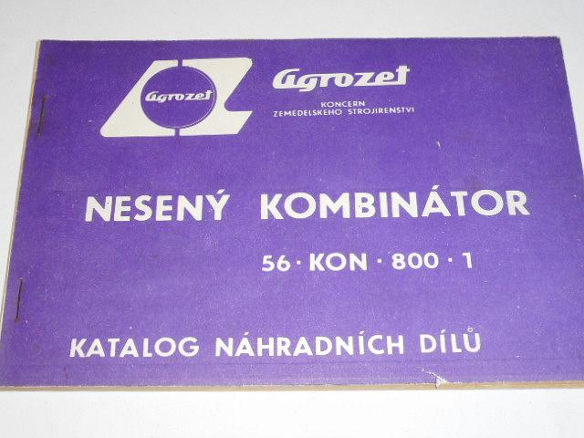 Nesený kombinátor 56-KON-800-1 - katalog náhradních dílů
