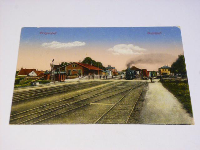 Pragerhof (Slovinsko) Bahnhof - nádraží - 1916