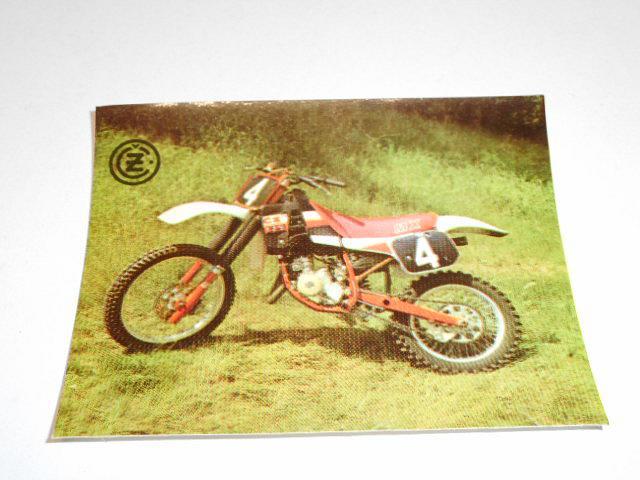 ČZ 125 typ 519 motokros - samolepka