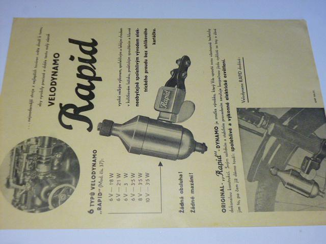 Velodynamo Rapid - prospekt - 1937