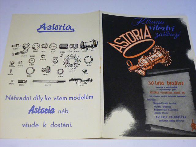 Volnoběžka Astoria model 1936 - prospekt