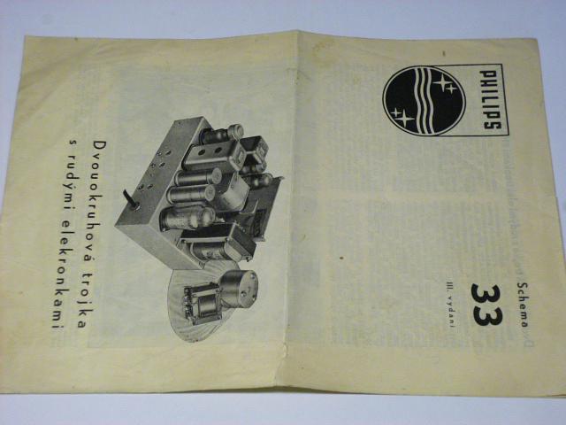Philips - dvouokruhová trojka s rudými elektronkami