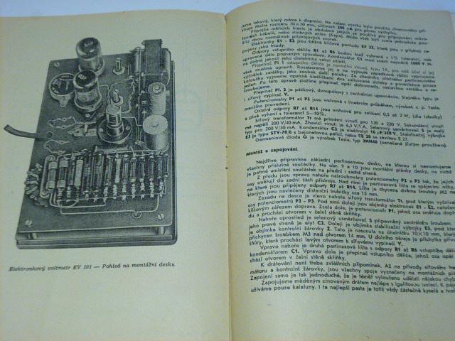 Elektronkový voltmetr EV 101 - stavební návod a popis 21 - 1958