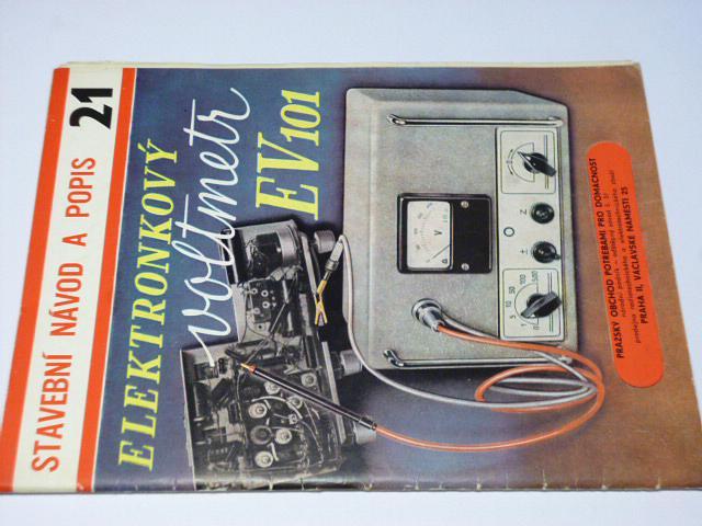 Elektronkový voltmetr EV 101 - stavební návod a popis - 1958