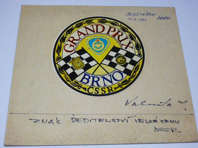 Grand Prix Brno - znak ředitelství Velké ceny ČSSR - návrh