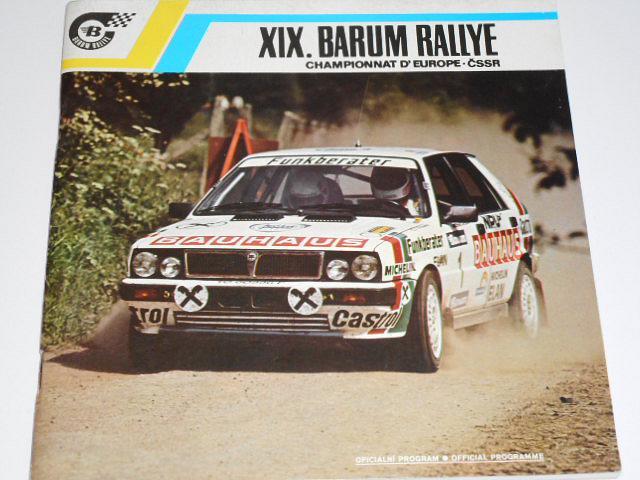 XIX. Barum rallye 1989 - program + startovní listina + časový harmonogram soutěže