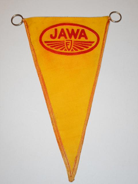 JAWA - předválečná látková vlaječka