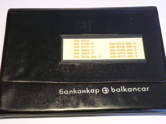 Balkancar - vysokozdvižný vozík - katalog součástek - 1976