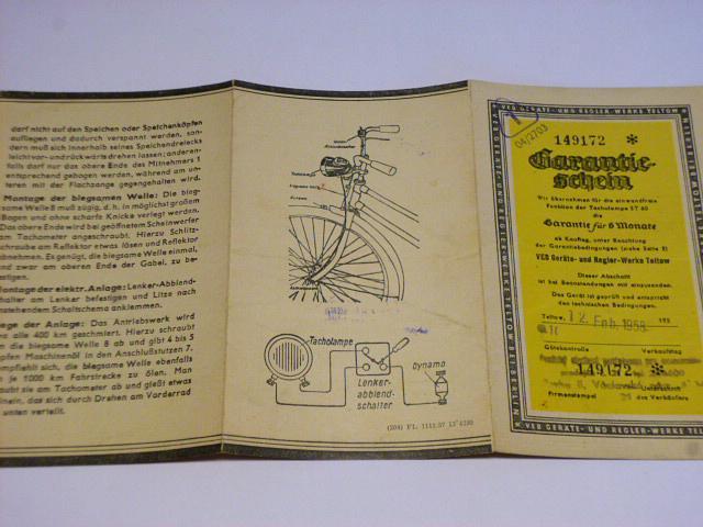 Fahrrad - Scheinwerfer mit eingebautem Tachometer