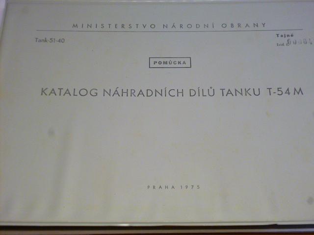 Tank T-54 M - katalog náhradních dílů - 1975