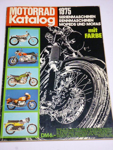 Motorrad Katalog 1975 - JAWA, ČZ, Harley, BMW, MZ, Ural...