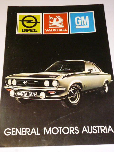 General Motors Austria - Opel, Vauxhall, GM - prospekt
