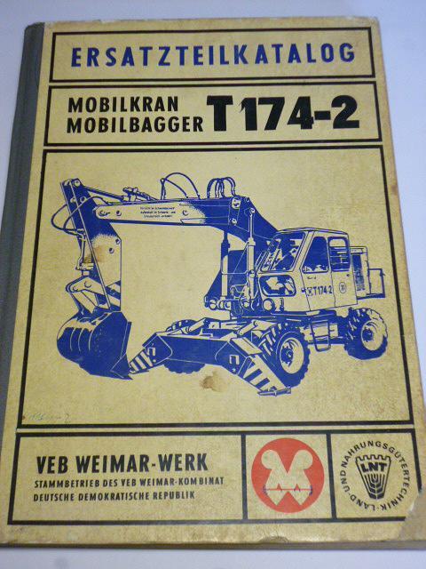 T 142-2 Mobilkran Mobilbagger - Ersatzteilkatalog - 1975