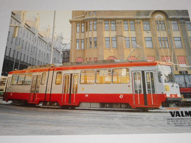 Valmet - tramvaj - leták