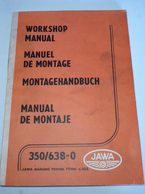 JAWA 350/638-0 - Workshop Manual, Montagehandbuch - 1985