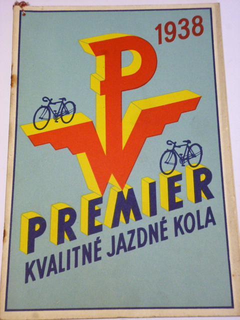 Premier - kvalitné jazdné kola - 1938 - prospekt