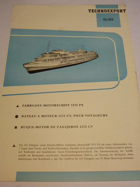 Fahrgast - Motorschiff 1575 PS - prospekt - Technoexport