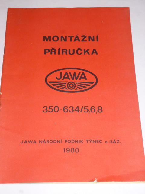 JAWA 350-634/5,6,8 - montážní příručka - 1980