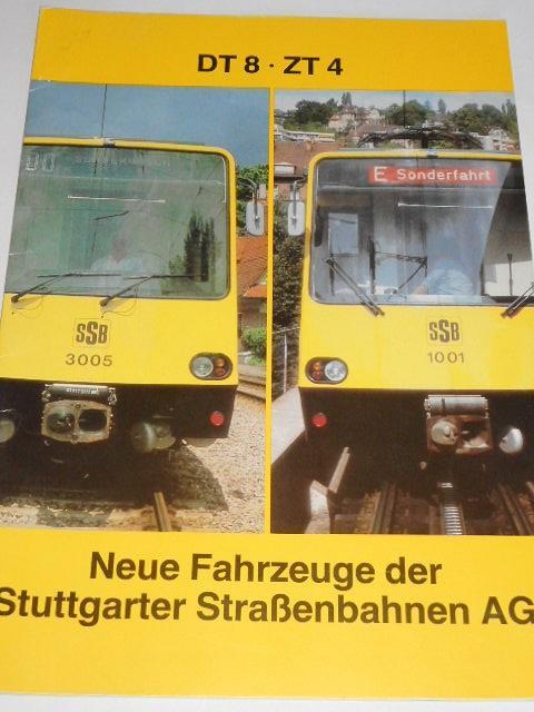 SSB - DT 8 - ZT - Neue Fahrzeuge der Stuttgarter Strassenbahnen AG - 1982 - prospekt