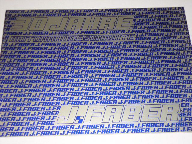 J. Faber - 30 Jahre Motorräder - 1948 - 1978 - prospekt