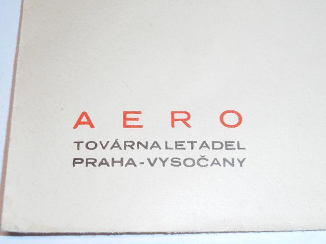 Aero - továrna letadel Praha - Vysočan - obálka