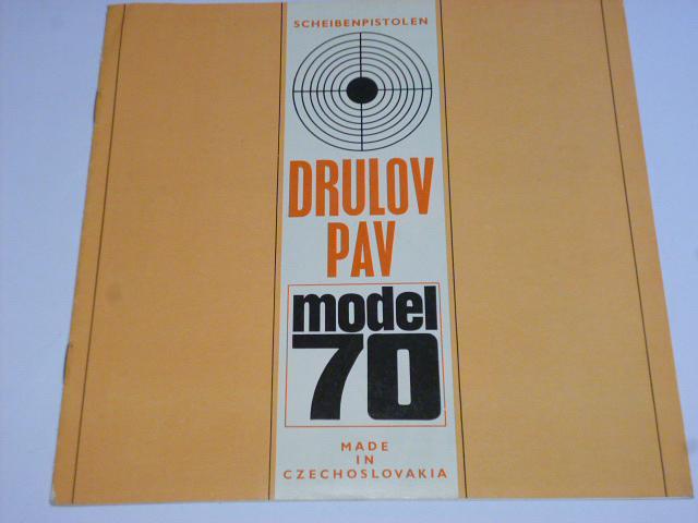 Drulov PAV model 70 Scheibenpistolen - prospekt