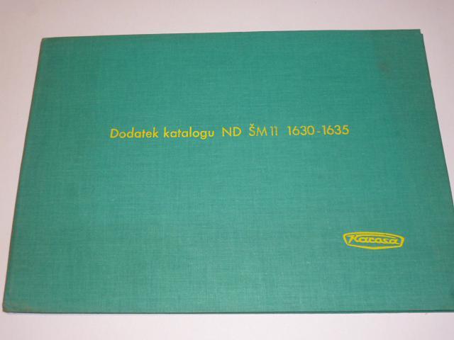Karosa ŠM 11 - dodatek katalogu náhradních dílů - 1974