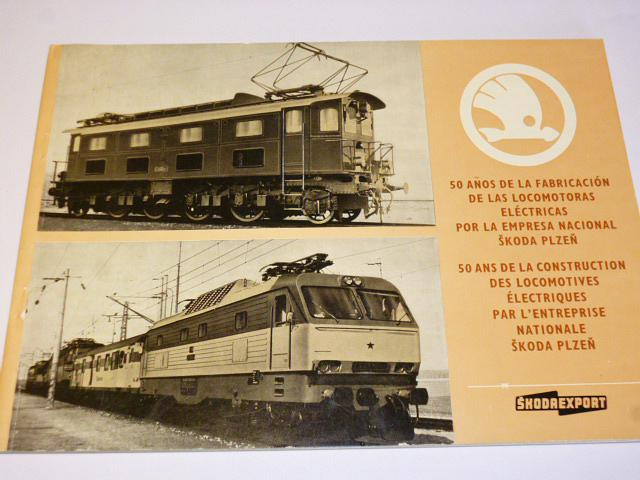 Škoda Plzeň - 50 let výroby elektrických lokomotiv - 1927 - 1977 - prospekt