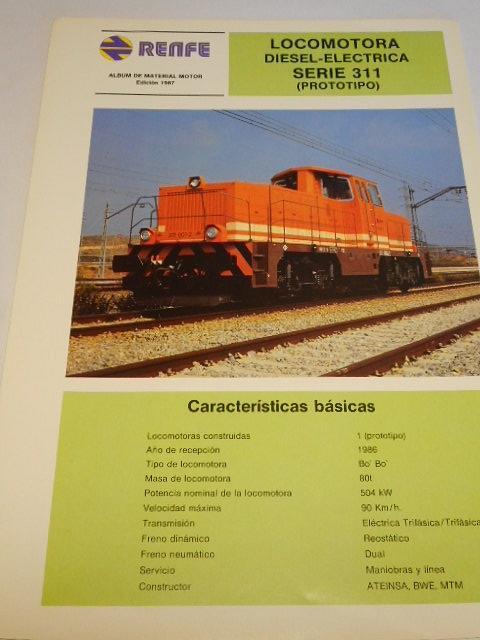 Renfe - locomotora diesel-electrica serie 311 - prospekt