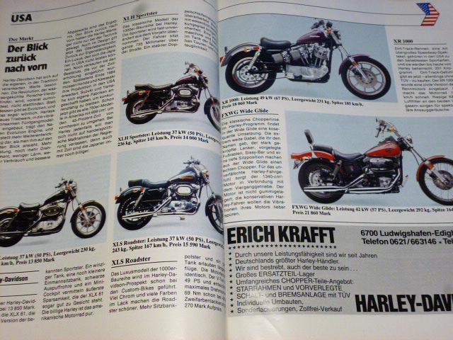 Motorrad Katalog 1984 - JAWA, Harley, BMW, MZ, Ural...