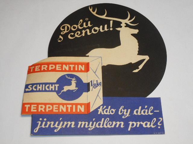 Terpentin - Schicht - kdo by dál jiným mýdlem pral? - papírová reklama