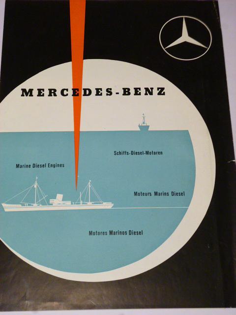 Mercedes - Benz - Schiffs Diesel Motoren - prospekt