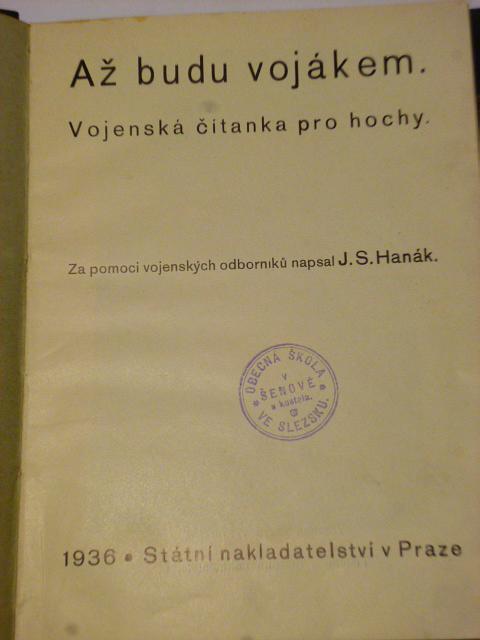 Až budu vojákem - vojenská čítanka pro hochy - 1936