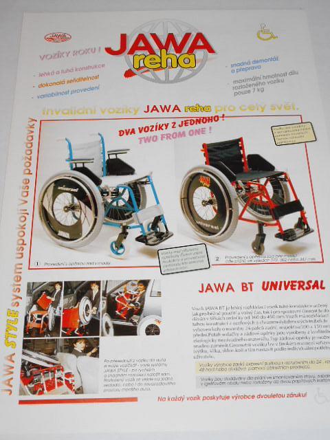JAWA reha - invalidní vozíky - prospekt