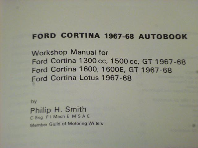 Ford Cortina 1967 - 1968 Autobook - Workshop Manual - 1972