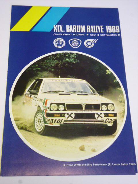 XIX. Barum rallye - prospekt - leták - 1989