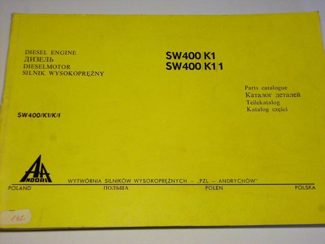 Diesel engine SW 400/K1, SW 400/K1/1 - Parts catalogue