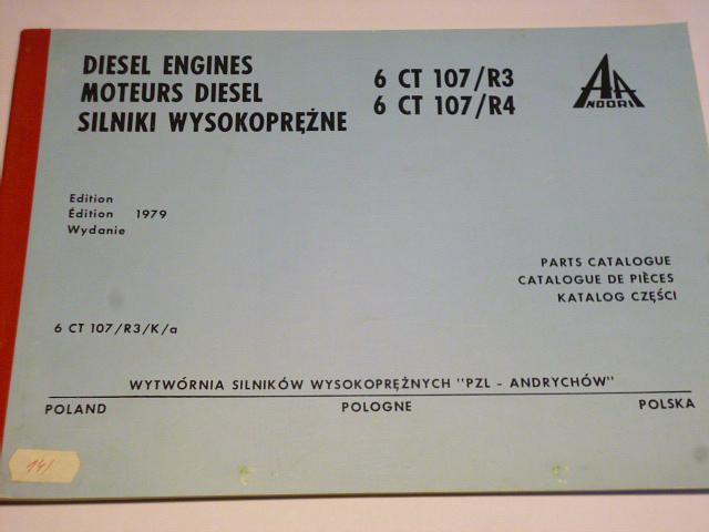 Diesel Engines 6 CT 107/R3, 6 CT 107/R4 - Parts catalogue
