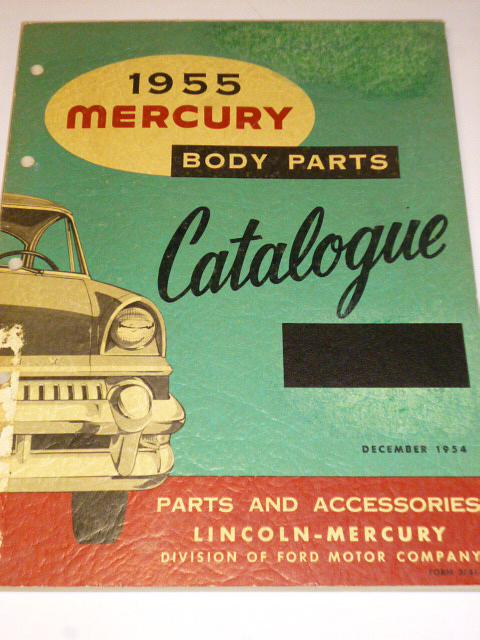 Mercury 1955 - Body parts Catalogue - 1954