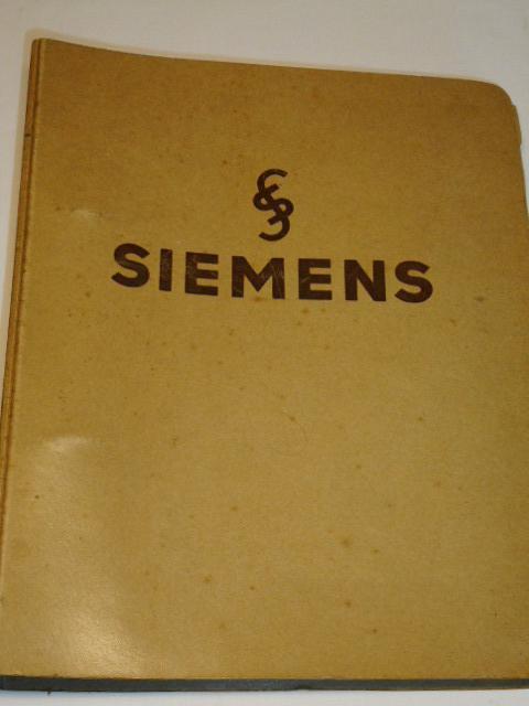Siemens - souborný ceník 1937