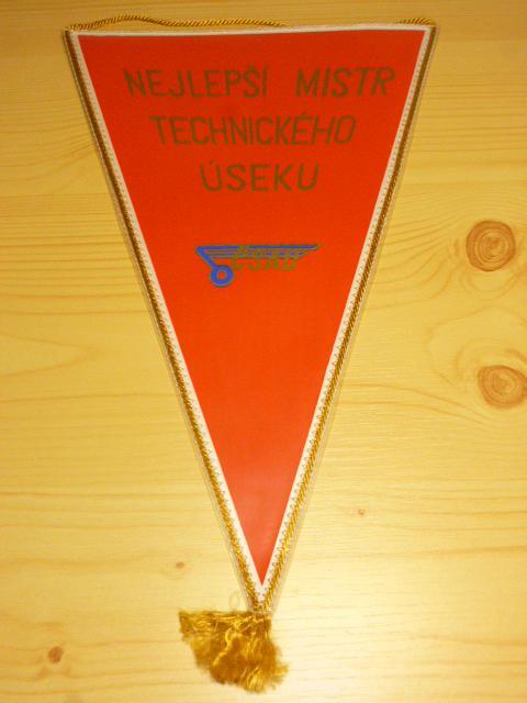 ČSAD Brno - nejlepší mistr technického úseku - vlaječka