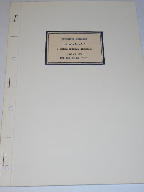 Technické podmínky - zadní pérování s teleskopickým tlumičem 472-35-006 - 1982 - ČZ, JAWA...