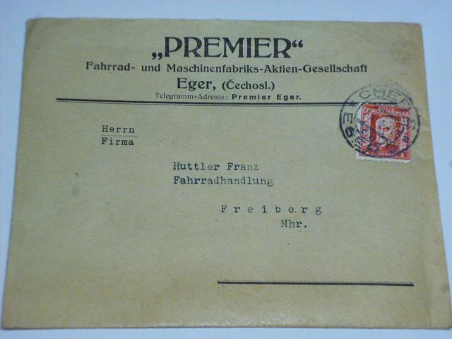 Premier - ceník jízdních kol Britannia + obálka - 1929